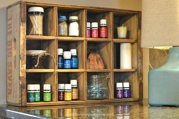 "Turn a vintage crate into a ""to die for"" Essential Oil storage an display case.  L.O.V. E.......D."