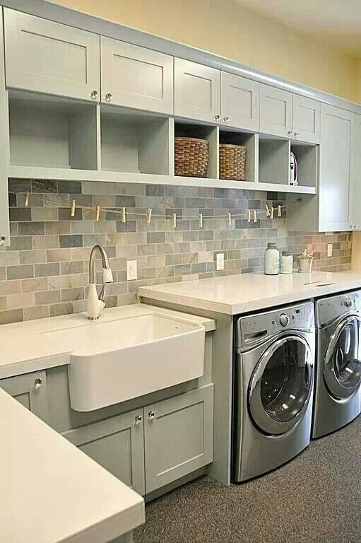 Nice laundry room colors - I would put the slate on the floor