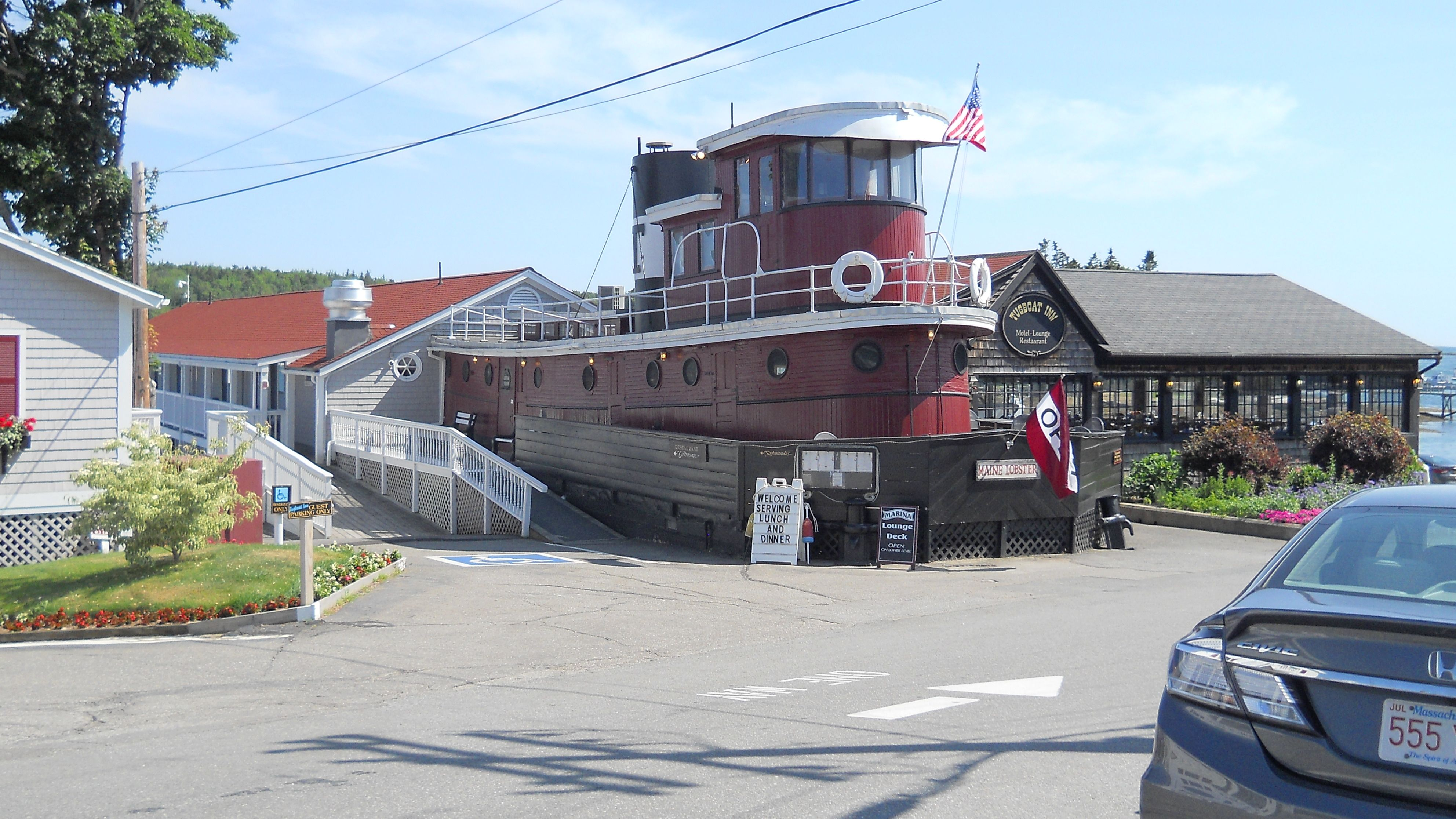 The best place to eat in Maine. The Tugboat Inn Hotel and Restaurant in Boothbay Harbor.