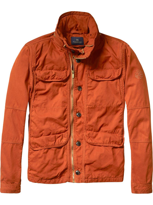 Safari Field Jacket   Jackets   Men Clothing at Scotch & Soda