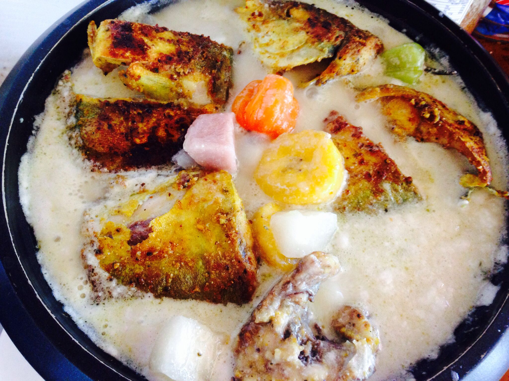 Rondon Caribbean Fish N Coconut Milk Soup Stew Food From
