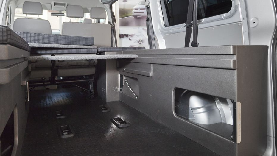 Furgomania kit cama basic volkswagen transporter t5 corta furgo furgoneta camper furgoneta - Muebles furgoneta camper ...