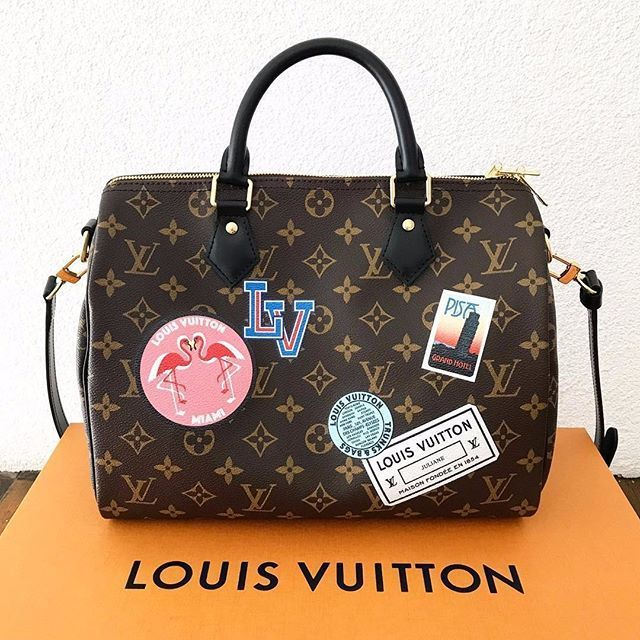 80cc969e8c4c  Louis  Vuitton  Monogram Classic Speedy   Shoulder Bag. 2017 New LV  Collection For Fashion Women.