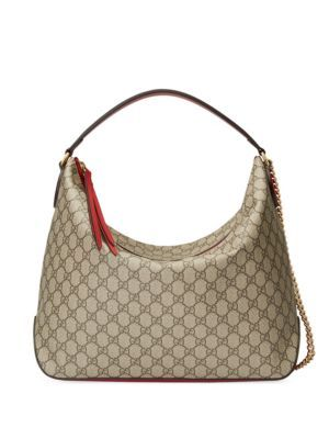 c5eba6b4a8a GUCCI Linea Large Gg Supreme Canvas Hobo Bag.  gucci  bags  canvas  lining  shoulder  bags  suede  hand bags  hobo