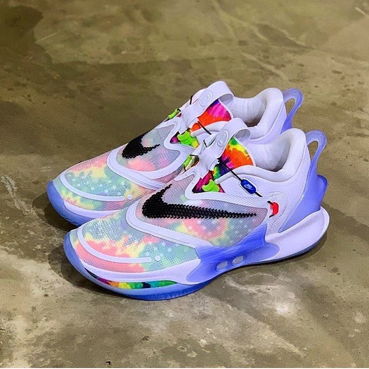 Evan On Instagram Nike Adapt Bb 2 0 Tie Dye Itsalex35 Embraceyoursole Solecollector Heatonfeetgang Soletod In 2020 Sneakers Men Brooks Sneaker Nike