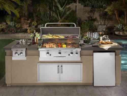 barbecue fixe fonctionnel et esth tique dans le jardin moderne cuisine et barbecue. Black Bedroom Furniture Sets. Home Design Ideas