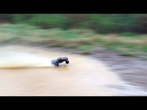 Rustler vxl water skipping and Hydroplaning! - YouTube