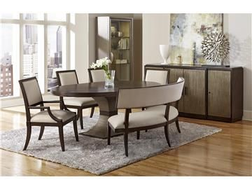 Ives Dining Table 1560 817 Top 1563 816 Base Vera Banquette