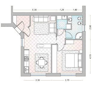 Galleria foto idee per arredare una casa piccola foto 1 for Progetti di cottage sulla spiaggia e planimetrie