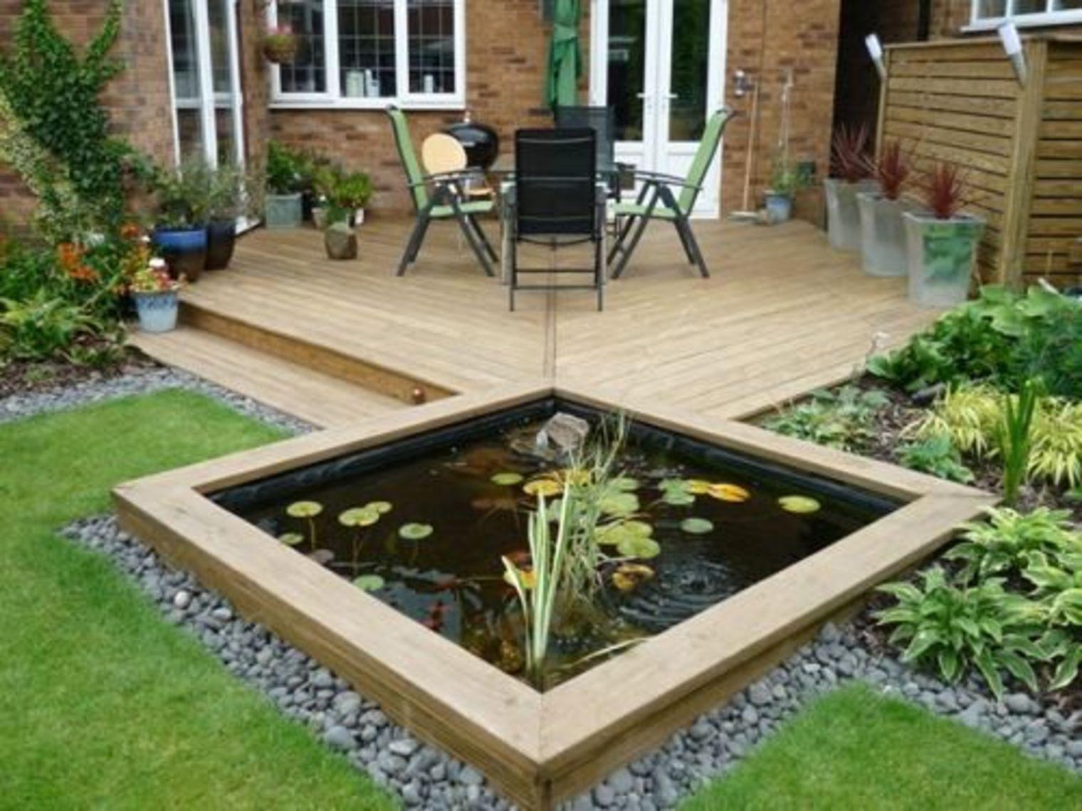 16 Attractive Garden Pond Designs That Everyone Should See Garden Pond Design Ponds Backyard Modern Garden Design Modern backyard koi pond