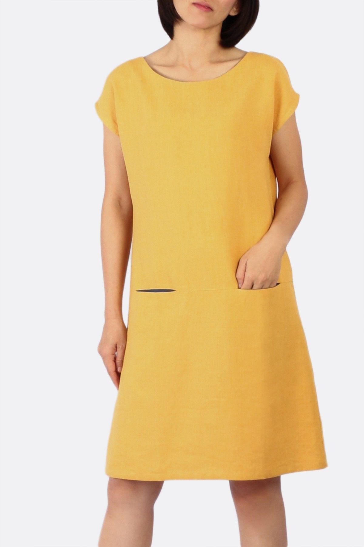 Amanda linen dress yellow new arrivals pinterest linen