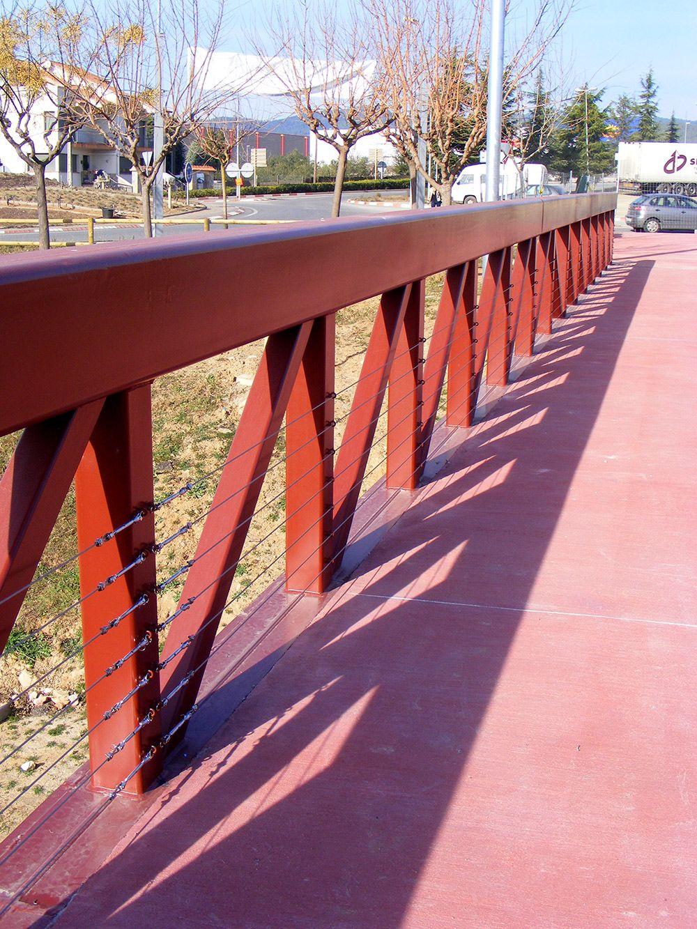 Valla para puente con cables de acero inoxidable vallas vallas - Vallas de acero inoxidable ...