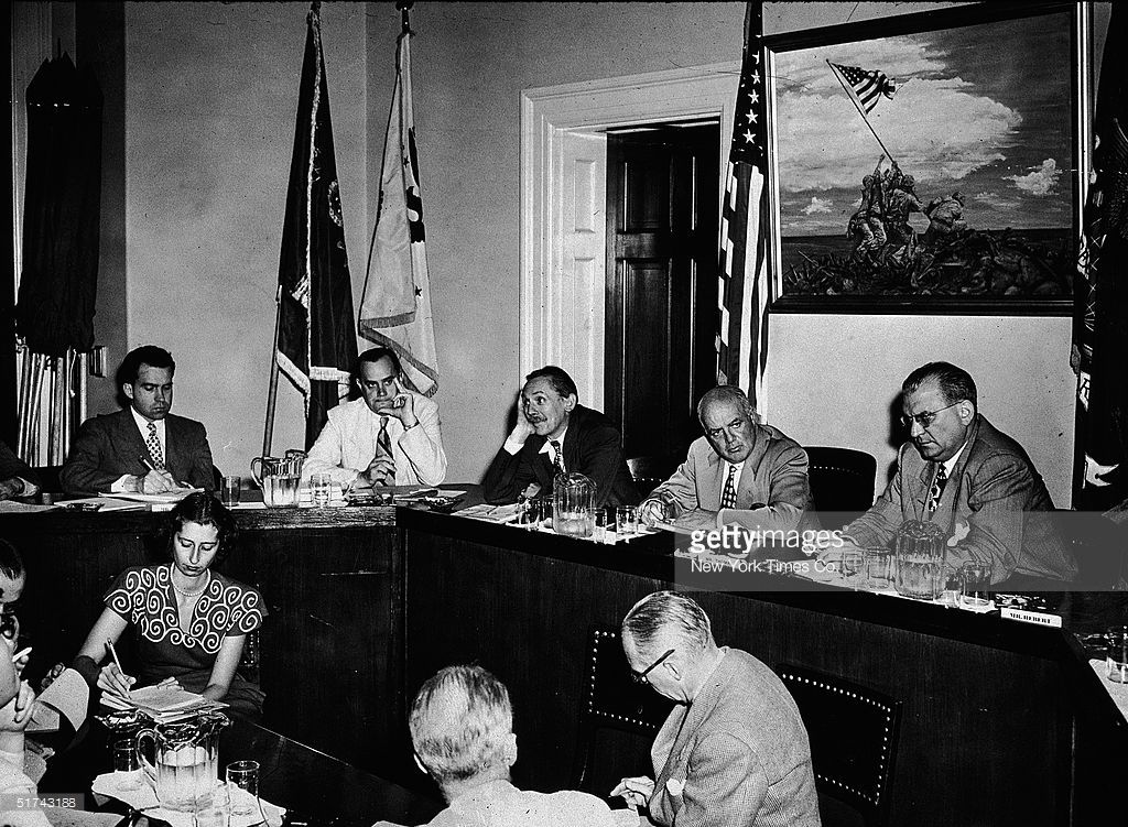 Members Of The House Committee On Un American Activities Sit For An American Presidents American Activities