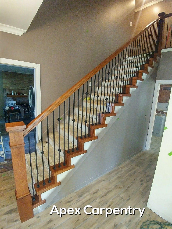 Best Hickory Stair Railing That We Installed In Cottonwood Heights Utah Floor Renovation Stair 400 x 300