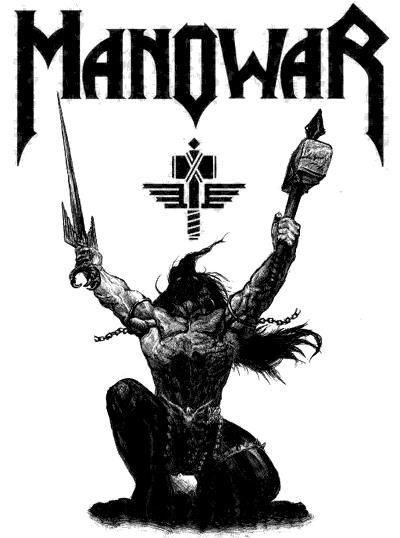 manowar music band logo manowar que gran banda manowar rh pinterest com Vintage Metal Posters UFO Band Posters