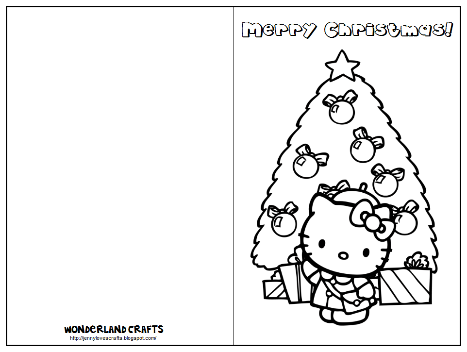 Cardtemplate1hellokitty1 Christmas Png 962 725 Pixels Free Printable Card Templates Christmas Card Template Free Printable Cards