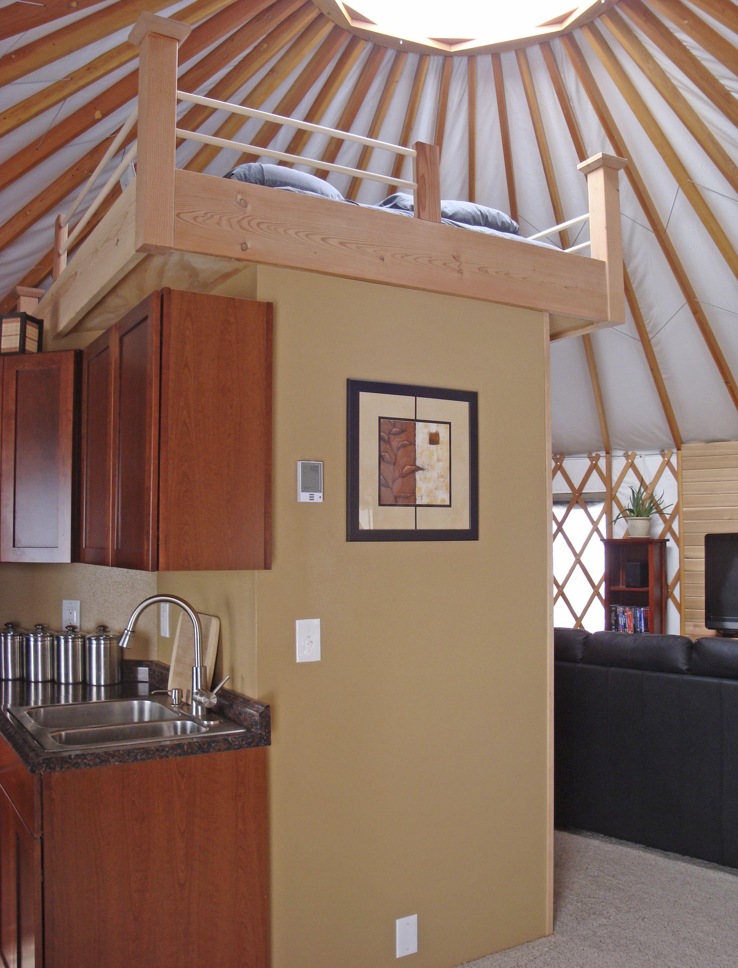 Lofty ideas pacific yurts yurt living pinterest for Yurt interior designs