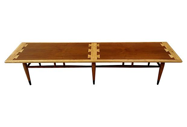 vintage lane acclaim series surfboard coffee table made of oak and walnut nice rounded corners. Black Bedroom Furniture Sets. Home Design Ideas