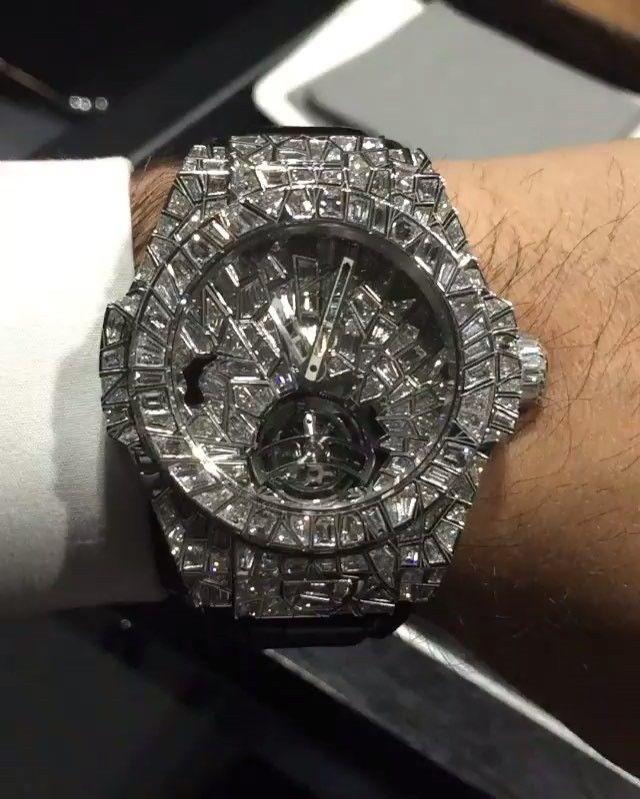 Hublot Big Bang Impact With Baguette Cut Diamonds Alib32