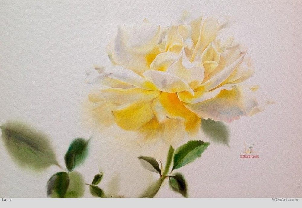 Watercolor Painting By Artist La Fe 04 Cvetochnye Kartiny