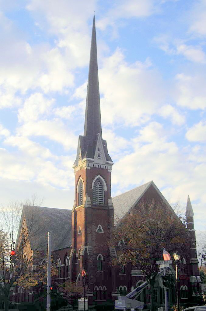 First Baptist Church of Fairport in Monroe County, New York.