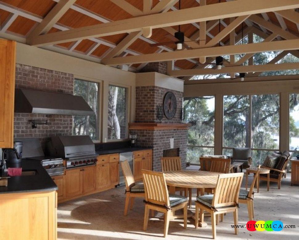 Furniture:Bbq Summer Kitchen Area Rustic Outdoor Summer Lounge ...
