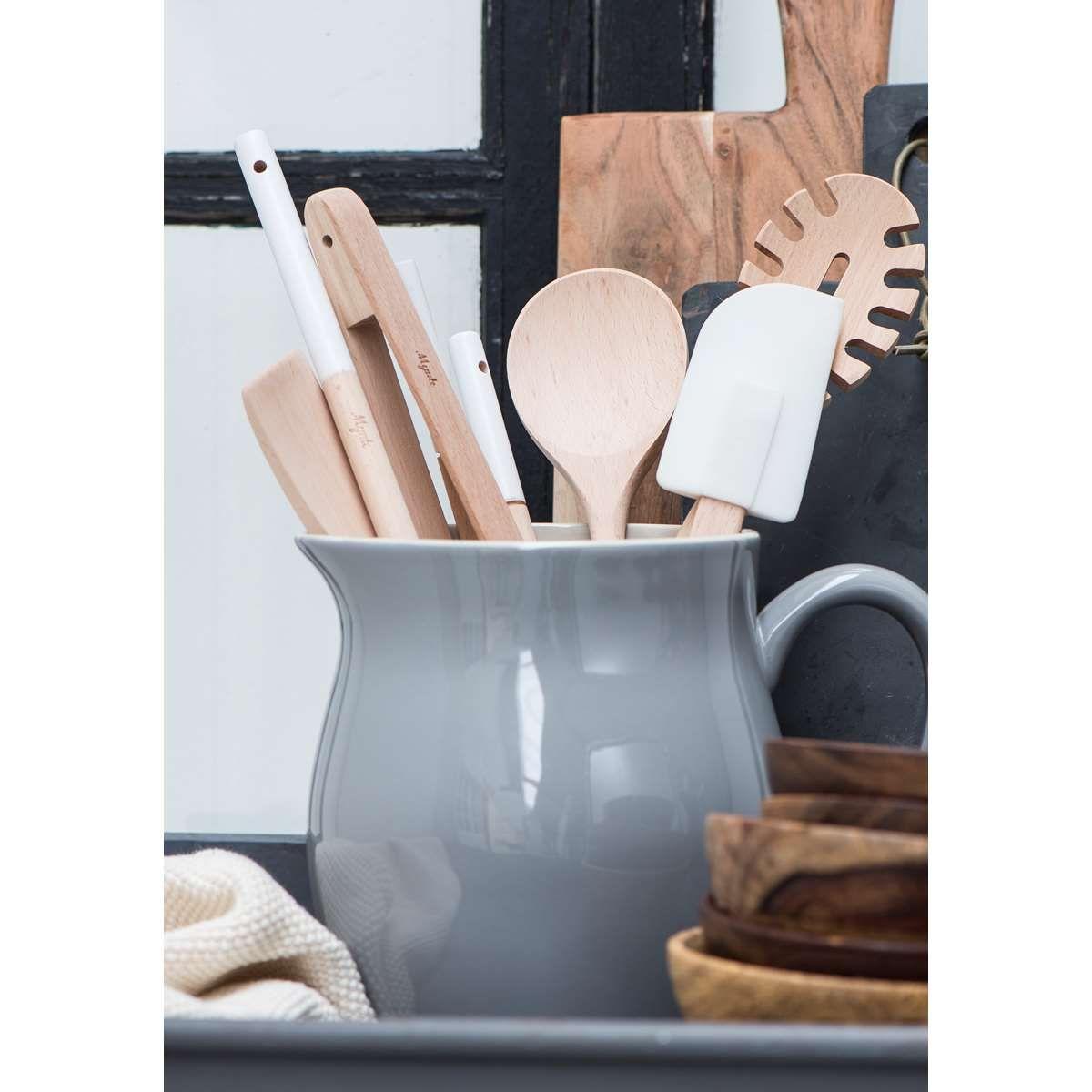 Küche Aufbewahrung keramikkrug als dekoelement dekoration küche aufbewahrung grau