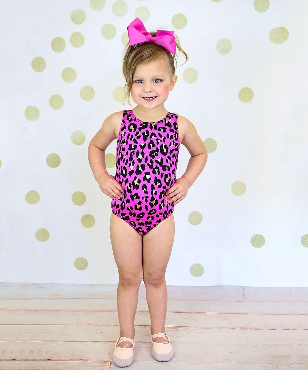 729783987d Pink   Black Leopard Leotard - Toddler   Girls