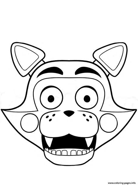 Print Fnaf Freddy Five Nights At Freddys Foxy Coloring Pages