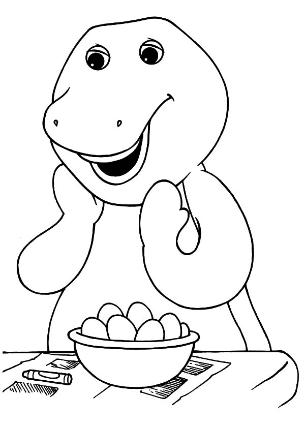 Barney Want To Cook Eggs Coloring Pages Best Place To Color In 2020 Dinosaur Coloring Pages Birthday Coloring Pages Cartoon Coloring Pages