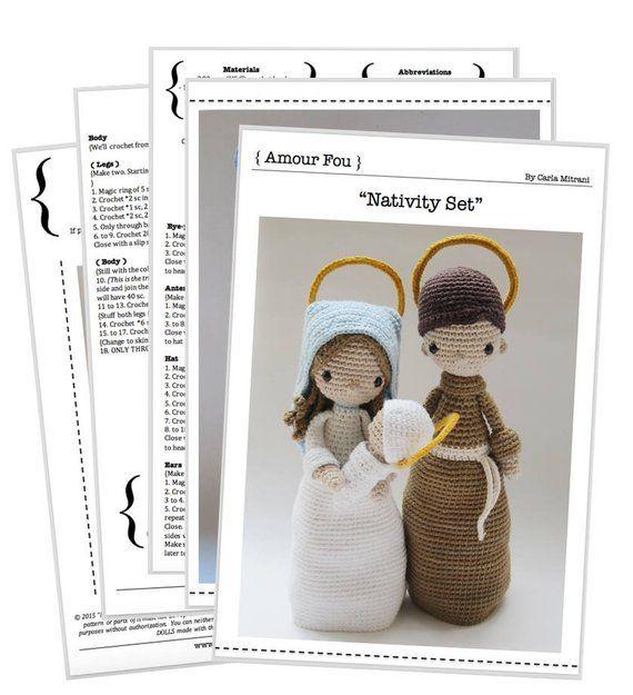 Nativity Set - Crochet Pattern by {Amour Fou} | Patrones Amigurumi ...