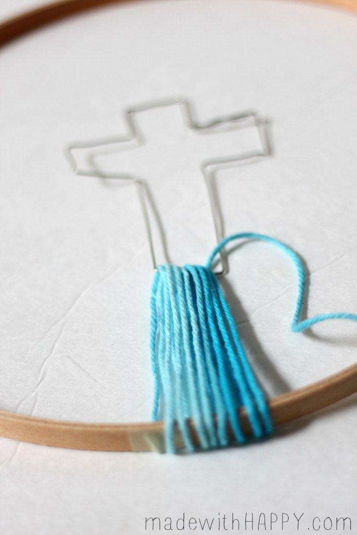 Christian Cross Crafts Kids Church Crafts String Art Cross