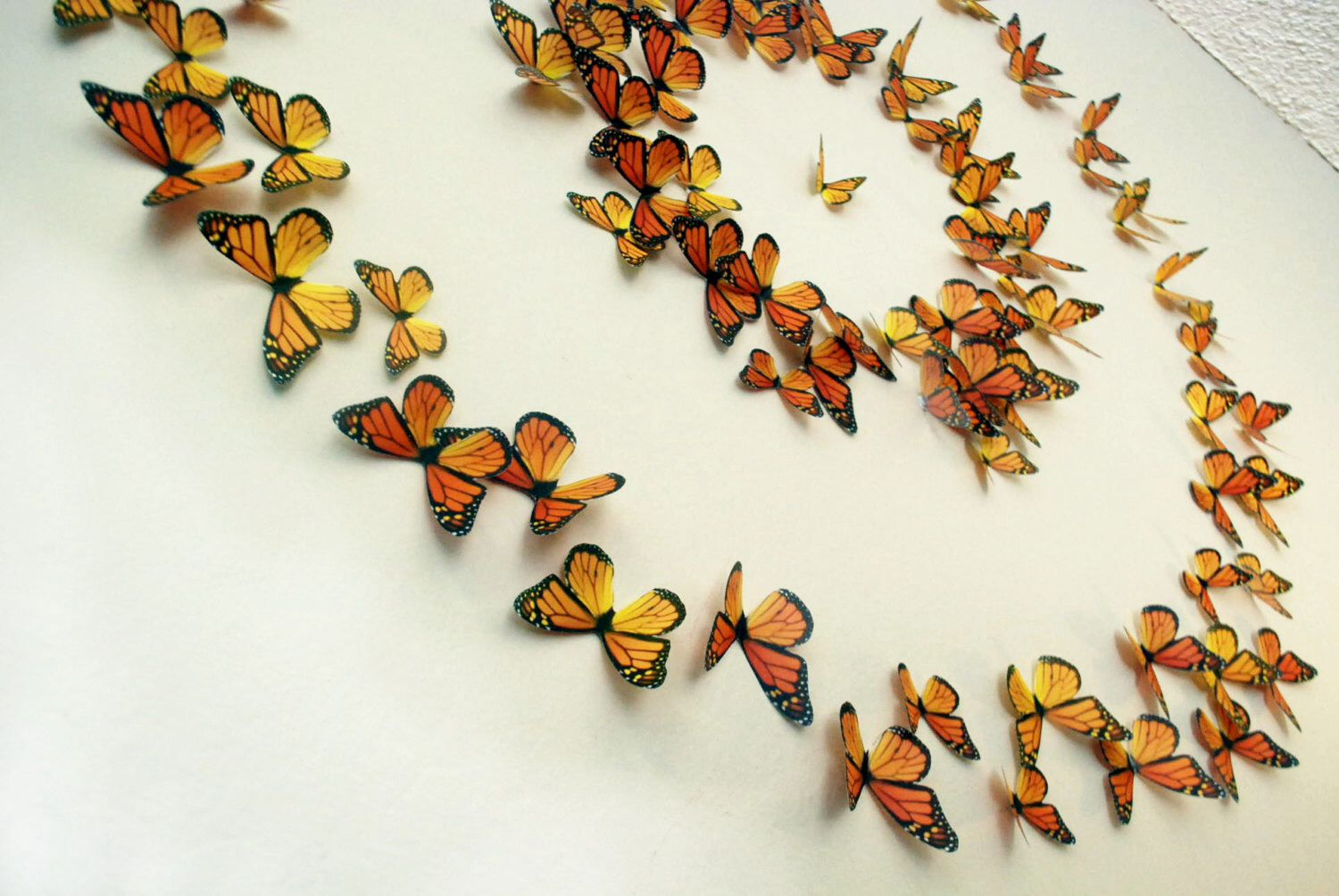 Monarch Butterflies 3d Wall Art Set Of 100 By Heidishubbub On