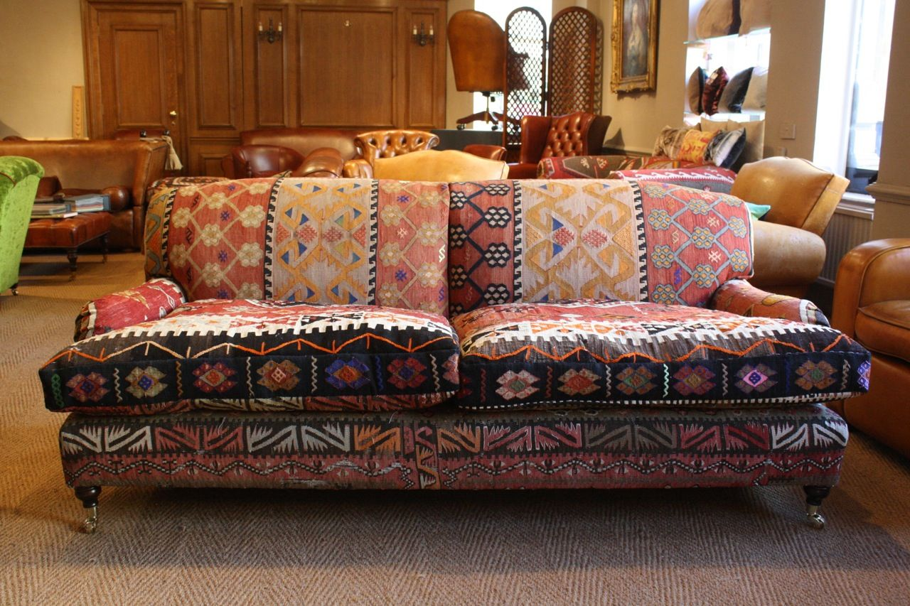 Lansdown Sofa In Kilim Vintage Leather Chairs Leather Chair Leather Sofa
