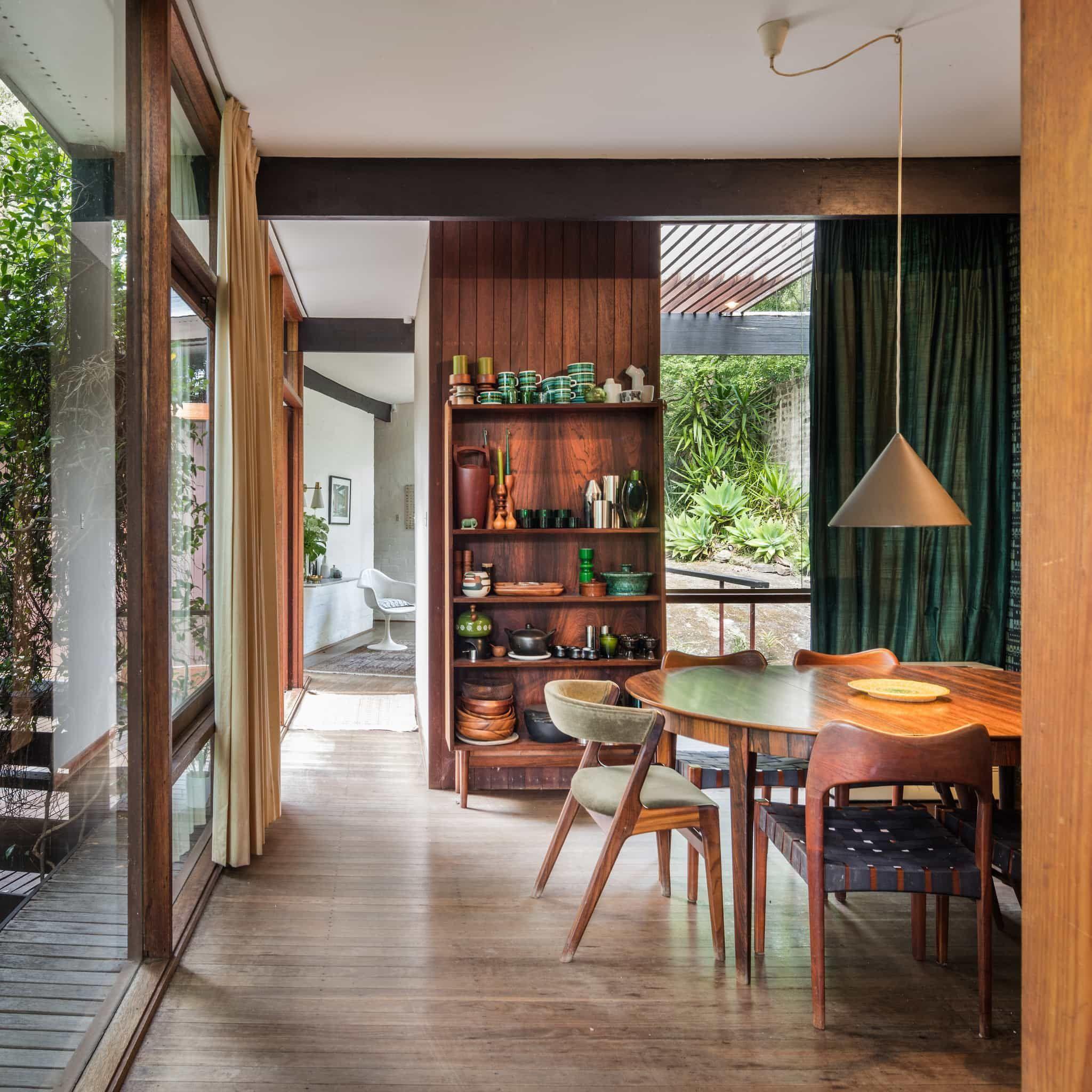Australian Mid Century Modern Russel Jack House In Sydney  Dining