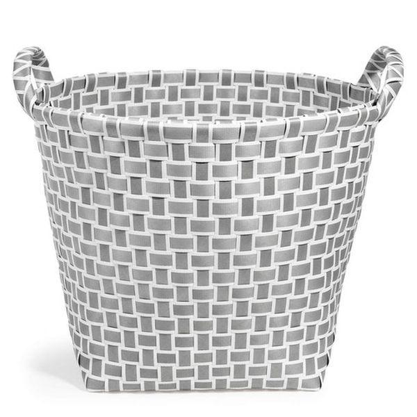 panier d co panierplastique basket panier en plastique tress vintage gris et blanc voir l. Black Bedroom Furniture Sets. Home Design Ideas