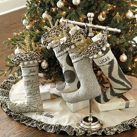 christmas stockings Stylish Christmas Décor Ideas In Grey Color and