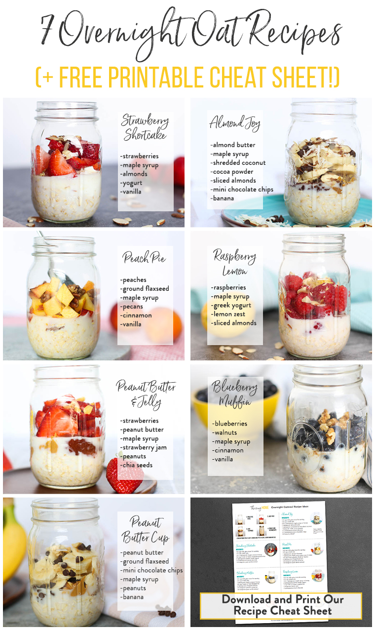 7 Overnight Oats Recipes (You're Going to LOVE The