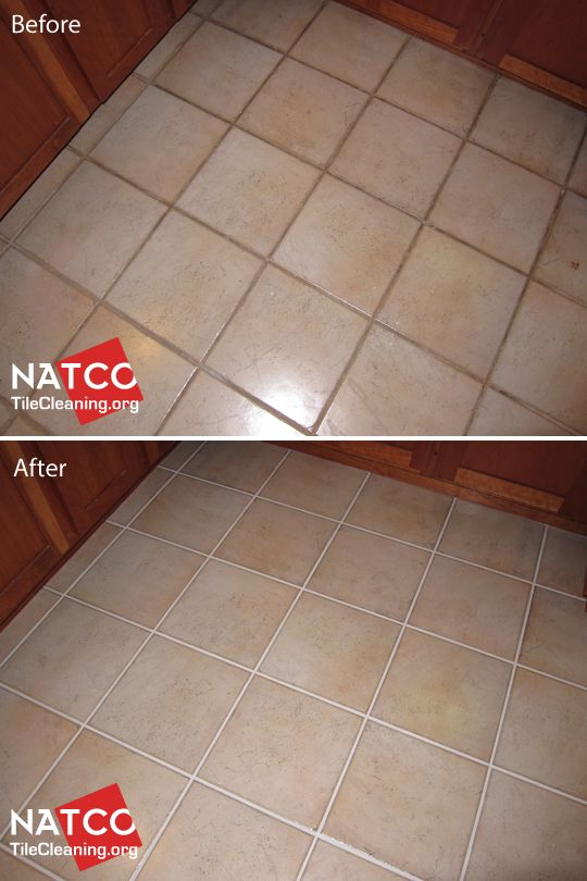 Cleaning And Painting Grout In A Ceramic Tile Floor Cleaning