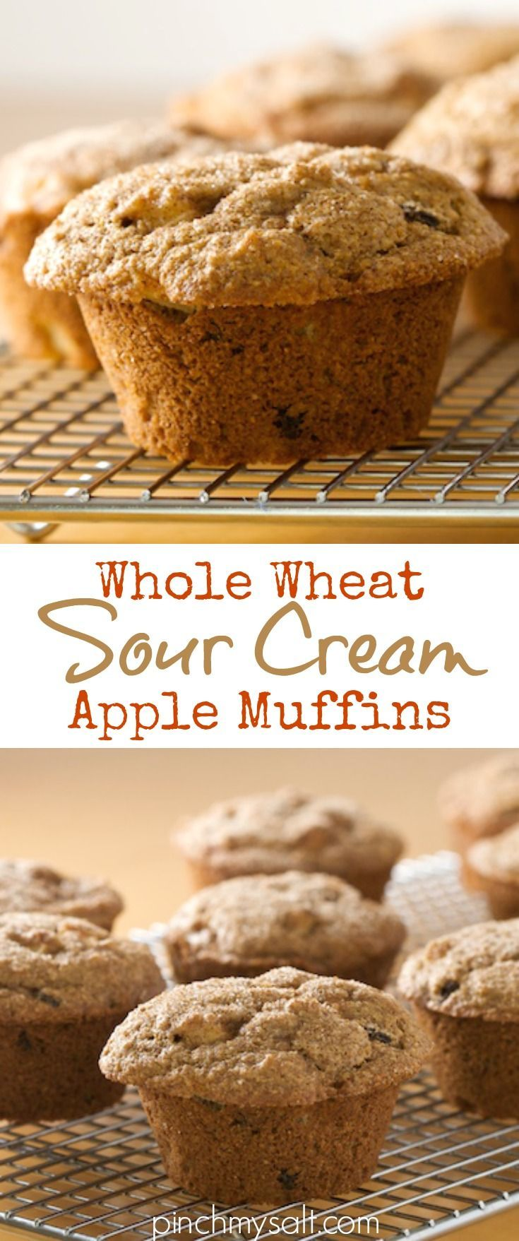 Whole Wheat Sour Cream Apple Muffins Recipe Recipe Apple Muffin Recipes Sour Cream Banana Muffins Apple Muffins