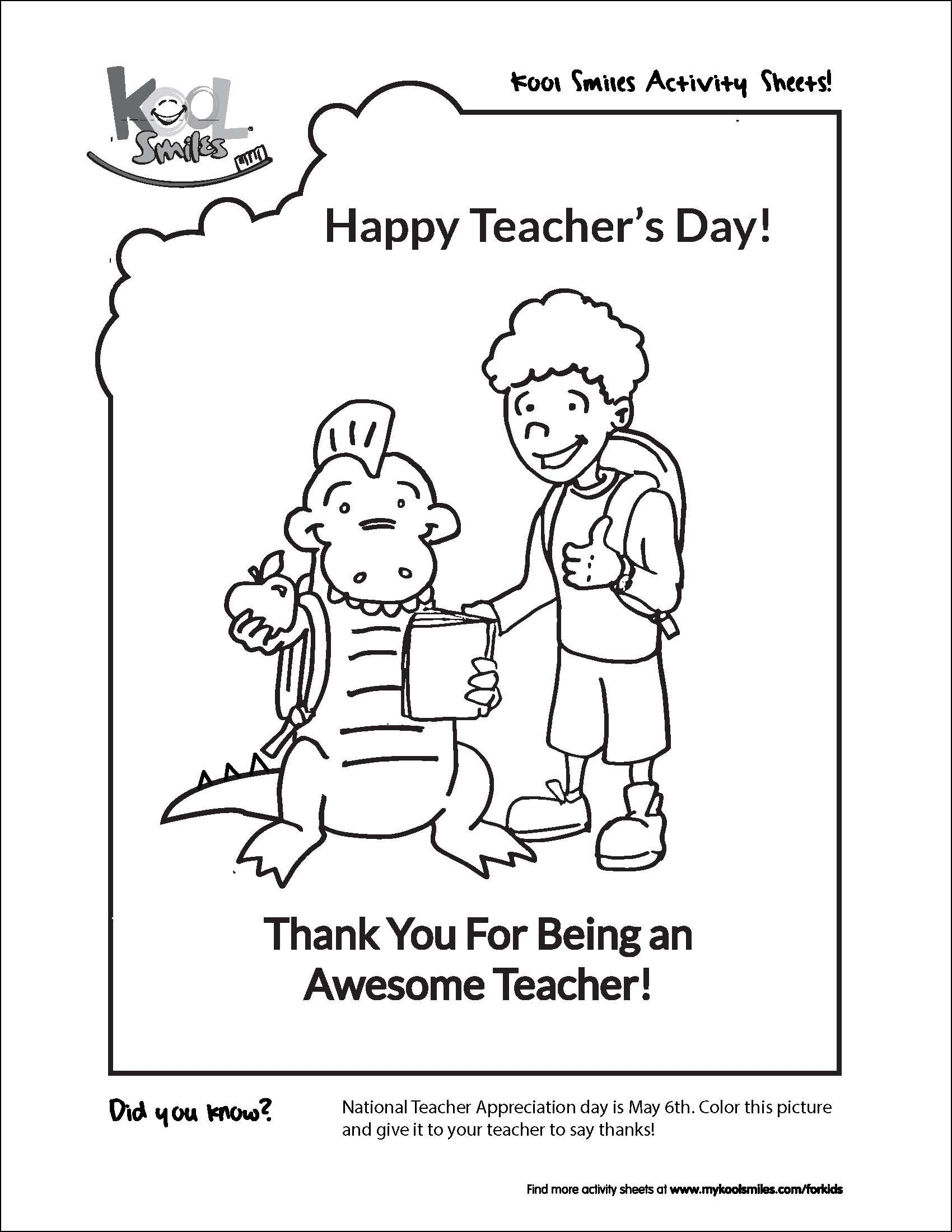 celebrate national teacher u0027s day with this fun activity sheet