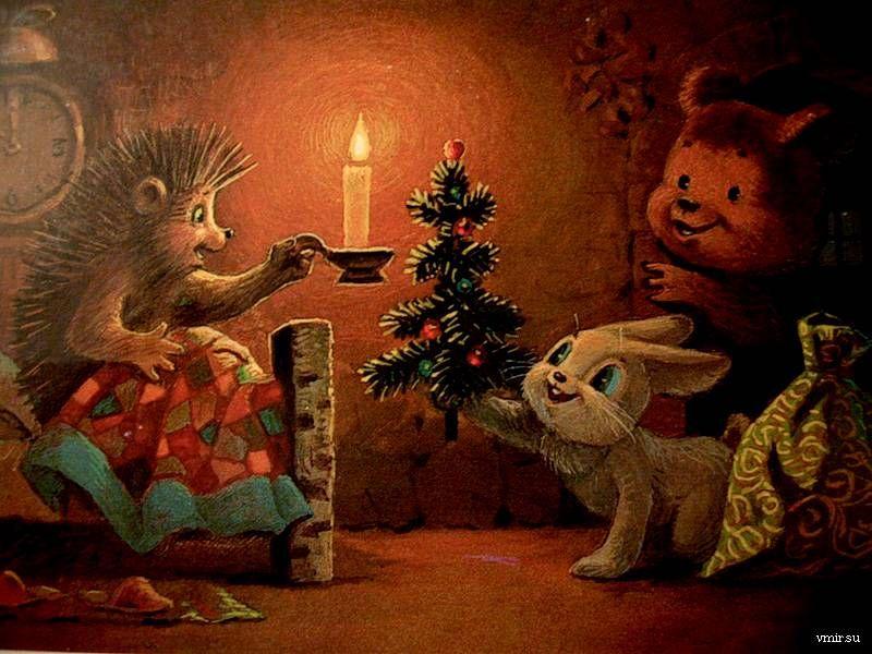 Новогодняя открытка художника владимира зарубина, открытки для мамы