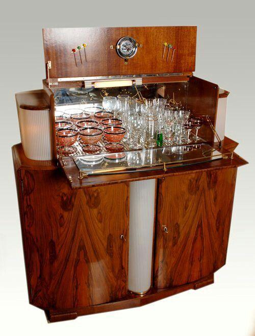 Gorgeous Art Deco Wooden Bar Cabinet - Gorgeous Art Deco Wooden Bar Cabinet Divine Art Deco In 2019