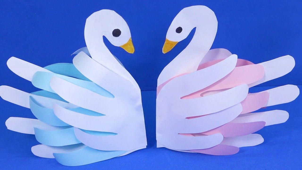 El papel de DIY manualidades para niños de Papel de cisne in 2020