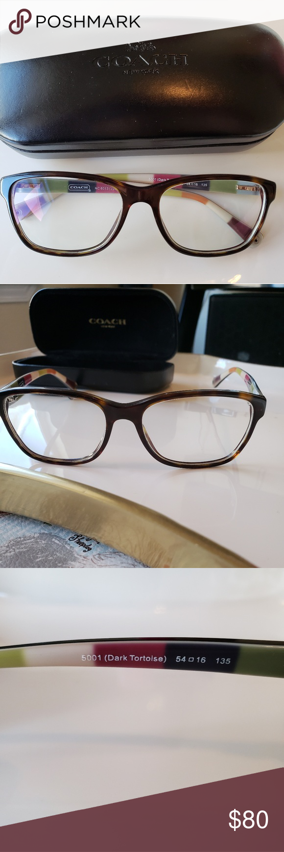 732974584f94d Coach HC 6013 Julayne Glasses in Dark Tortoise Classic style frame in Brown  are perfect for any outfit. These are used and the lens is my old  prescription ...