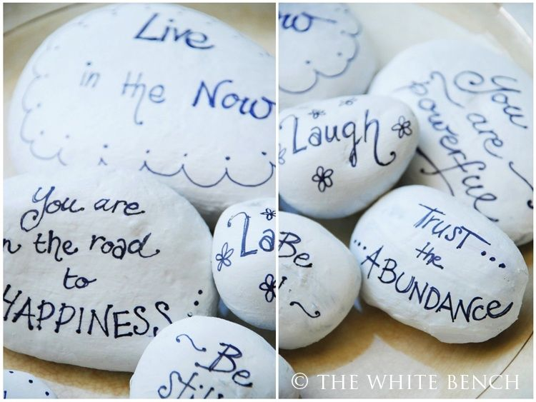 The White Bench: Inspiration Stones.