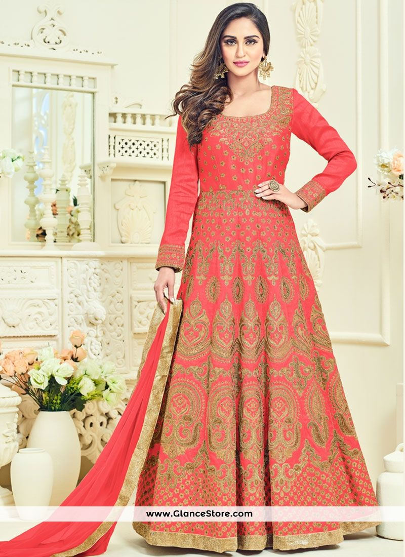 Krystle dsouza banglori silk floor length anarkali suit all