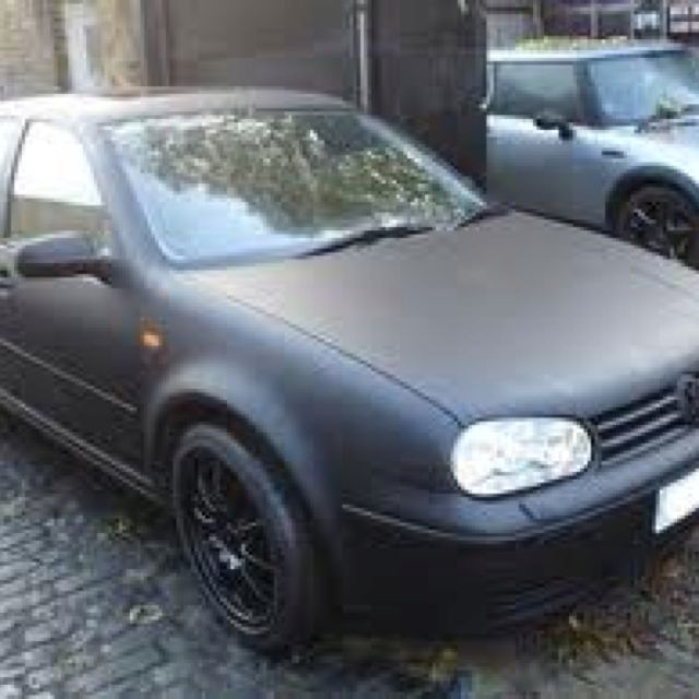 Vw Golf Mk4 Matt Black Vw Golf Mk4 Vw Mk4 Vw Golf