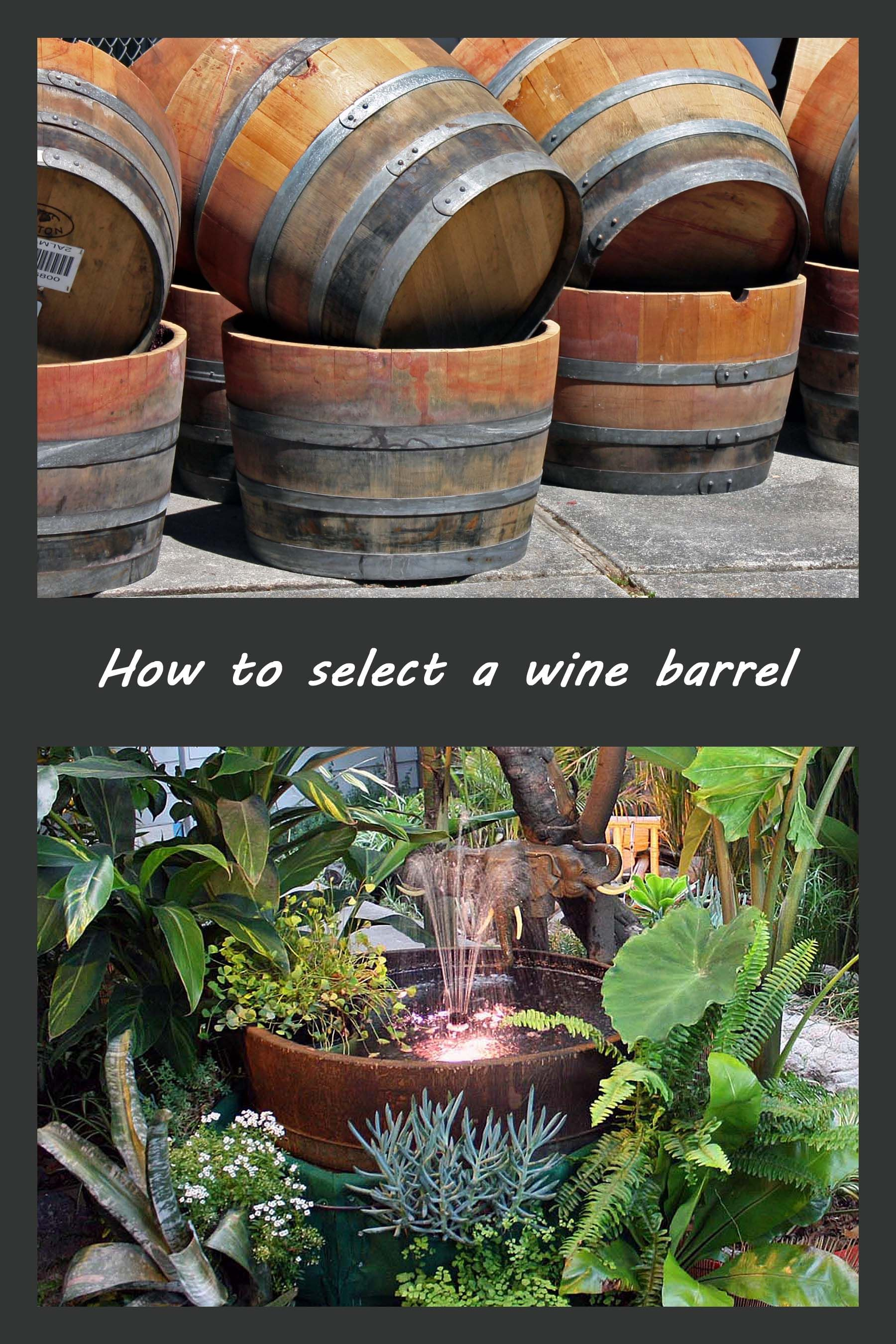 Wine Barrel Fountain Barrel Fountain Wine Barrel Water Feature Wine Barrel Garden