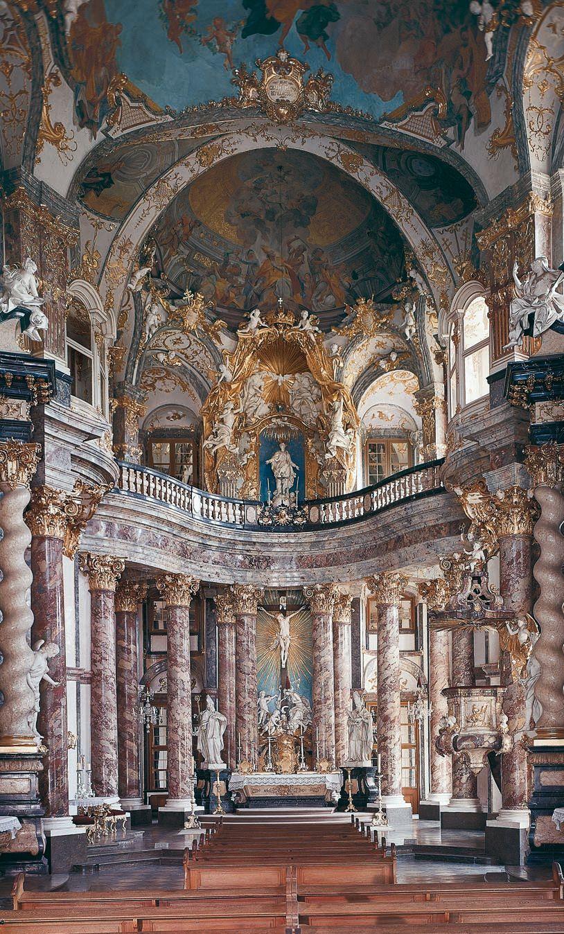 Residenz Wurzburg Germany 1719 1780 Architect Balthasar Neumann Baroque Architecture Architecture Art Beautiful Architecture